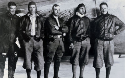Aviators in A-1 flight jackets