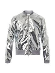 Silver Metallic Lightweight Bomber Jacket - Richard Nicoll