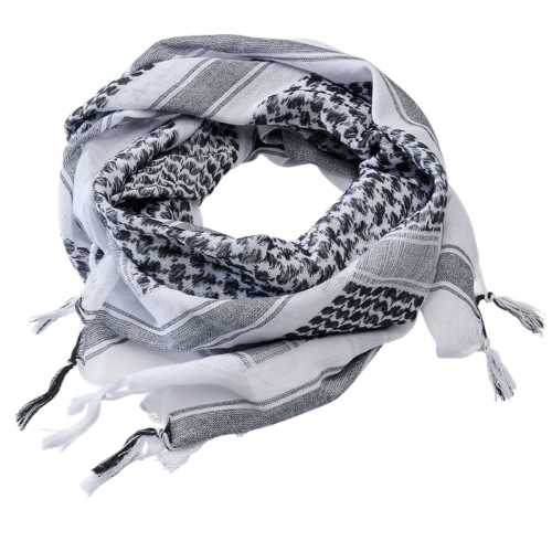 Shemag Scarf - White & Black