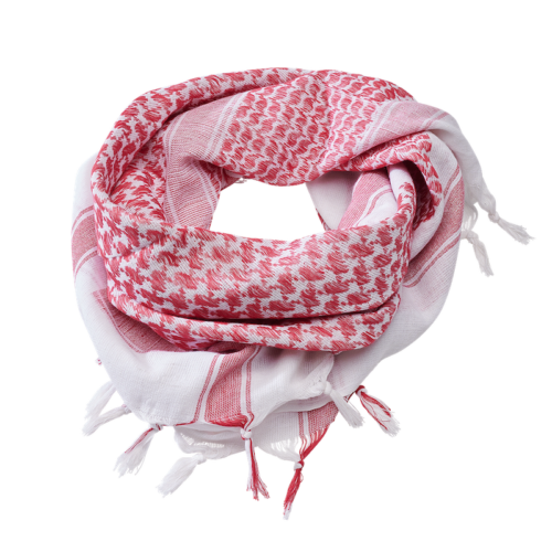 Shemag Scarf - White & Red