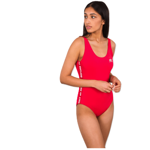 RBF Tape Swimsuit - Race Red