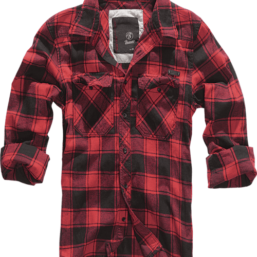 Checkered Flannel Shirt - Red & Black