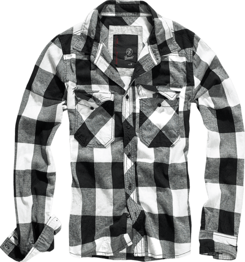 Checkered Flannel Shirt - Black & White
