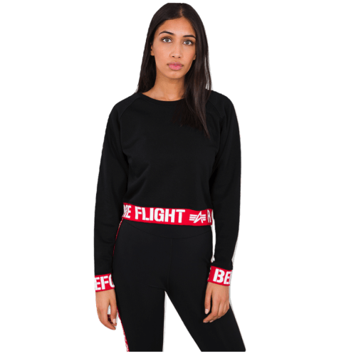 RBF Cropped Sweater - Black