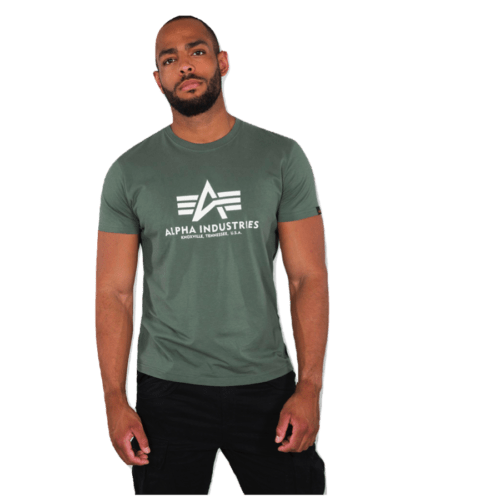 Flying A Basic Tee - Vintage Green