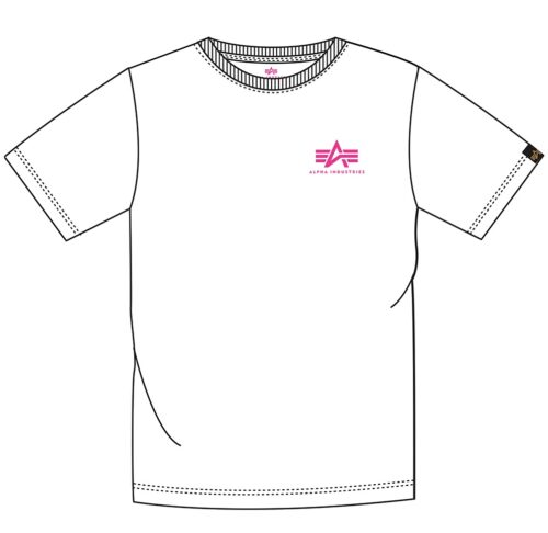 Small A Basic Tee - White / Pink