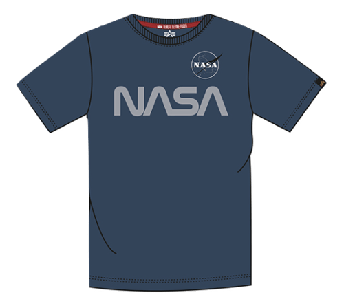 Nasa Reflective Tee Junior - Rep. Blue