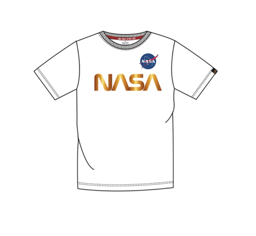 Nasa Reflective Tee Junior - White Gold